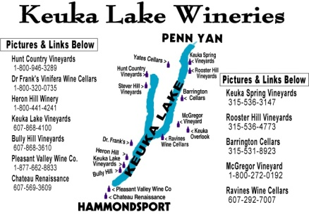 Keuka Lake map